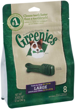 GREENIES Original Large Dog Dental Chews - 12 Ounces 8 Treats