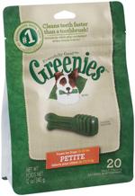 GREENIES Original Petite Dog Dental Chews - 12 Ounces 20 Treats