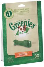 GREENIES Original Petite Dog Dental Chews - 18 Ounces 30 Treats