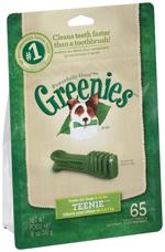 GREENIES Original TEENIE Dog Dental Chews - 18 Ounces 65 Treats