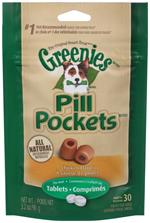 GREENIES PILL POCKETS Treats for Dogs Chicken Flavor - Tablet Size 3.2 oz. 30 Treats