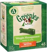 GREENIES Weight Management Petite Dental Dog Chews - 27 Ounces 45 Treats