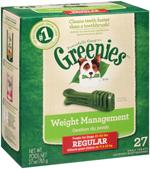 GREENIES Weight Management Regular Size Dental Dog Chews - 27 Ounces 27 Treats
