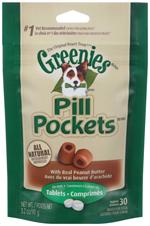 GREENIES PILL POCKETS Treats for Dogs Peanut Butter - Tablet Size 3.2 oz. 30 Treats