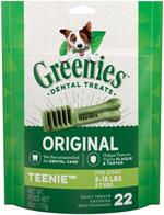 GREENIES Original TEENIE Dog Dental Chews - 6 Ounces 22 Treats