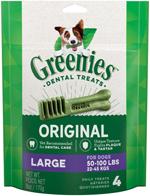 Greenies Original Large Dog Dental Chews - 6 Ounces 4 Treats