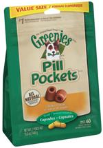 Greenies Pill Pockets Dog Treats Chicken Flavor Capsule 1ea/60 ct, 15.8 oz