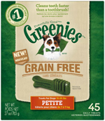 GREENIES Grain-free Petite Dog Dental Chews - 27 Ounces 45 Treats
