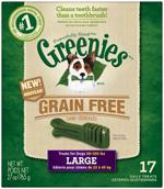 GREENIES Grain-free Large Dog Dental Chews - 27 Ounces 17 Treats