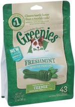 Greenies Fresh Teenie Dog Dental Chews - 12 Ounces 43 Treats