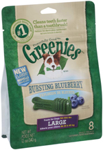GREENIES Blueberry Flavor Large Dog Dental Chews  - 12 Ounces 8 Treats