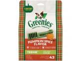GREENIES Pumpkin Spice Flavor TEENIE Dog Dental Chews 12 Ounces 22 Treats