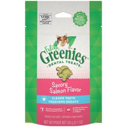 Greenies FELINE Cat Dental Treat Savory Salmon Flavor 1ea/2.1 oz