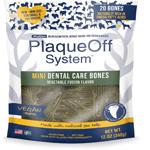 ProDen PlaqueOff System Mini Dental Care Bones Vegetable Fusion Flavor Dog Treats, 12OZ