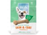 Fresh Breath by TropiClean Dental Chew Skin & Coat Dog Treat 25+lbs Regular 10pc