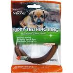 N-Bone Puppy Teething Ring Pumpkin Flavor Single