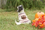 Fashion Pet Owl Sweater Cream Small