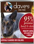 Daves Premium Beef  95% Meat Pack Of 12