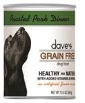 Daves Grain Free, Roasted Pork Dinner Pack Of 12