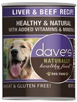 Daves Naturally Healthy, Liver & Beef  Case of 12