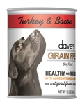 Daves Grain Free, Turkey & Bacon   Case of 12