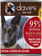 Daves Premium Beef & Chicken 95% Meat  Case of 12
