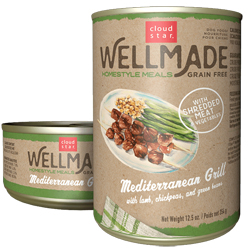 Cloud Star WellMade Homestyle Meals Mediterranean Grill With Lamb Recipe Grain-Free Canned Dog Food 12.5oz