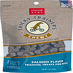 Cloud Star Chewy Tricky Trainers Salmon Flavor Dog Treats, 5-oz. bag