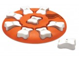 Nina Ottosson Smart Interactive Dog Toy Orange, White 1ea/10.63 in