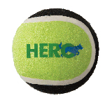 Hero Dog Ball Solid Tennis 2.5 Inches