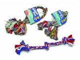 Booda 3-Knot Rope Tug Multi-Color Medium