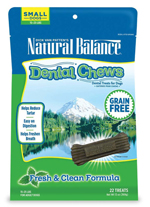 Natural Balance Dental Chews Fresh & Clean Formula Small 13oz