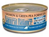 Natural Balance Lid Salmon & Green Pea Formula Canned Cat Food 24/5.5Oz