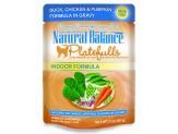 Natural Balance Platefulls Indoor Duck/Chicken/Pumpkin in Gravy Cat Food 3oz