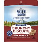 Natural Balance LID Grain Free Crunchy Biscuits Beef 10oz