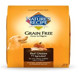 Nature's Recipe Grain Free Easy to Digest Chicken Sweet Potato & Pumpkin Dry Dog Food 1ea/12 lb