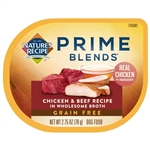 Natures Recipe Prime Blends Wet Dog Food Chicken and Beef 2.75oz