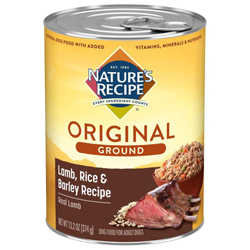 Nature's Recipe Easy-To-Digest Lamb/Rice Loaf Dog Food 12ea/13.2 oz, 12 pk