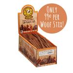 "Happy Howie Dog Beef WOOF STIX 6"" 80 Pack"