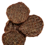 HAPPY HOWIE'S DOG LAMB BURGER 4 INCHES 60 COUNT