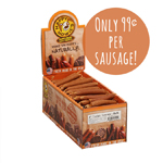"Happy Howie Dog Turkey Sausage 4"" 80 Pack"