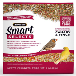 ZuPreem Smart Selects Bird Food for Canaries and Finches 1ea/2 lb