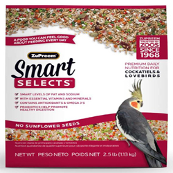 ZuPreem Smart Selects Bird Food for Cockatiels and Lovebirds 1ea/2.5 lb