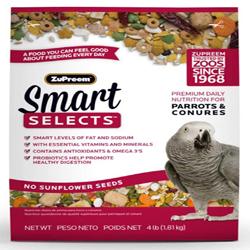 ZuPreem Smart Selects Bird Food for Parrots & Conures 1ea/4 lb