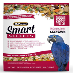 ZuPreem Smart Selects Bird Food for Macaws 1ea/4 lb