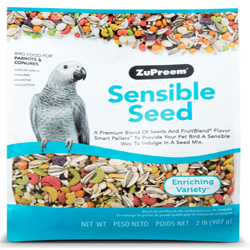 ZuPreem Sensible Seed Bird Food for Parrots & Conures 1ea/2 lb