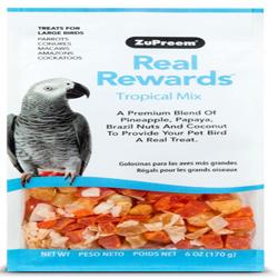 ZuPreem Real Rewards Tropical Mix Treats for Large Birds 1ea/6 oz