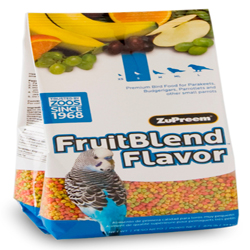 ZuPreem FruitBlend with Natural Flavor Pelleted Bird Food for Small Birds 1ea/0.875 lb