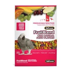 ZuPreem FruitBlend with Natural Flavor Pelleted Bird Food for Parrots and Conures 1ea/2 lb