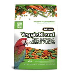 ZuPreem VeggieBlend with Natural Flavor Pelleted Bird Food for Parrots and Conures 1ea/3.25 lb